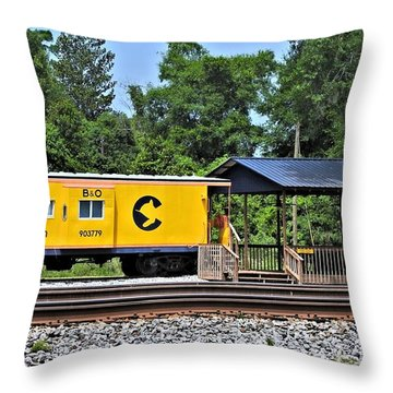 Throw Pillow featuring the photograph Permanently Side Tracked by Laura Ragland