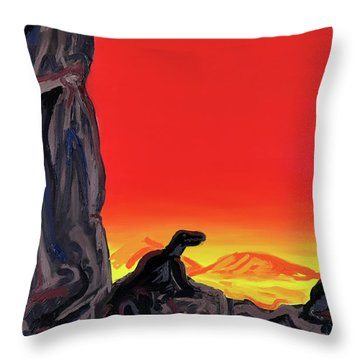 Permian Outpost Throw Pillow by Ryan Demaree