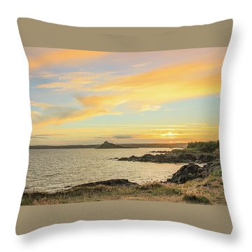 Perranuthnoe At Sunset  Throw Pillow