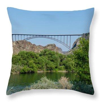 Perrine Bridge At Twin Falls Throw Pillow