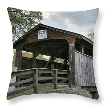 Perrine's Bridge Throw Pillow by DJ Florek