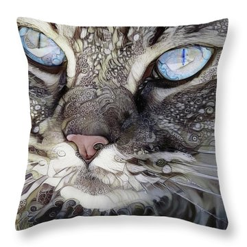 Perry The Persian Cat Throw Pillow