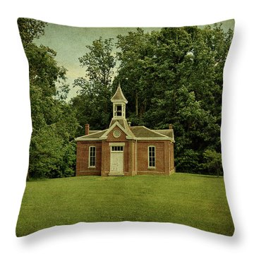Perry Township School No. 3 Throw Pillow