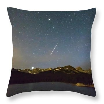 Throw Pillow featuring the photograph Perseid Meteor Shower Indian Peaks by James BO Insogna