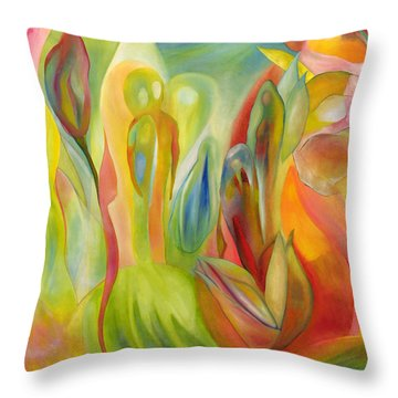 Throw Pillow featuring the painting The Liberation Of Persephone by Linda Cull