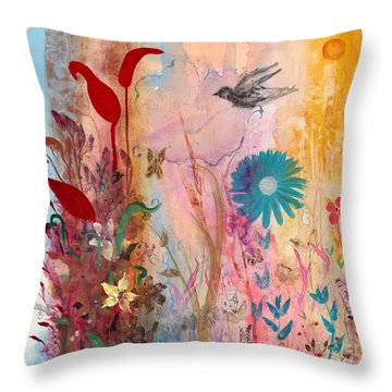 Persephone's Splendor Throw Pillow