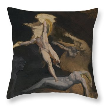 Perseus Slaying The Medusa Throw Pillow by Henry Fuseli
