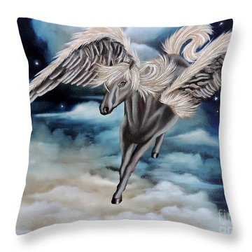 Perseus The Pegasus Throw Pillow