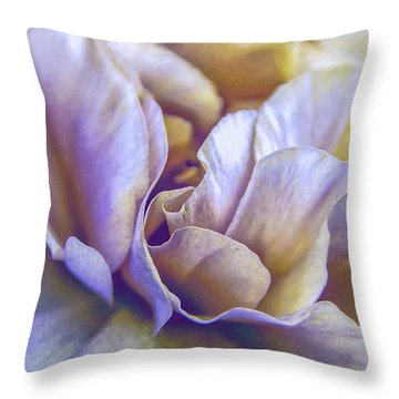 Throw Pillow featuring the digital art Persian Blooming Buttercup by Julie Palencia