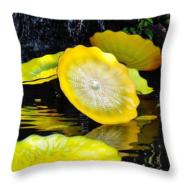 Persian Lily Pads Throw Pillow by Kyle Hanson