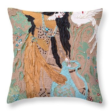 Persian Painting 3d Throw Pillow by Sima Amid Wewetzer