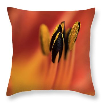 Persimmon Lilly Throw Pillow