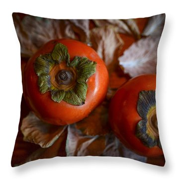 Persimmons 5 Throw Pillow
