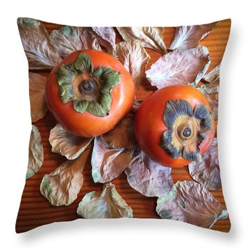Persimmons 6 Throw Pillow