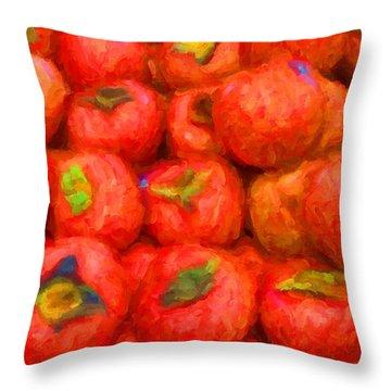 Persimmons Throw Pillow