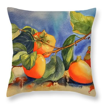 Persimmons Throw Pillow