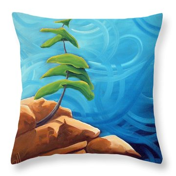 Persistance Throw Pillow by Richard Hoedl