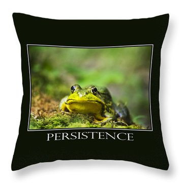 Persistence Inspirational Motivational Poster Art Throw Pillow by Christina Rollo