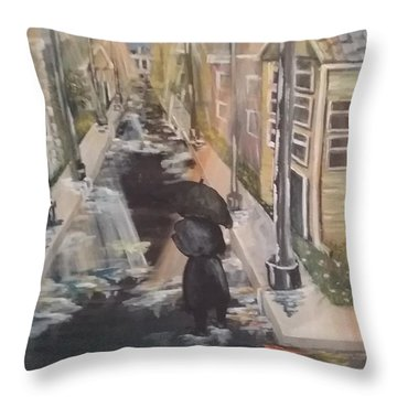 Throw Pillow featuring the painting Persistence by Saundra Johnson
