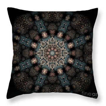 Throw Pillow featuring the digital art Persnickety Palpitations Of Magnificent Malformations by Rhonda Strickland