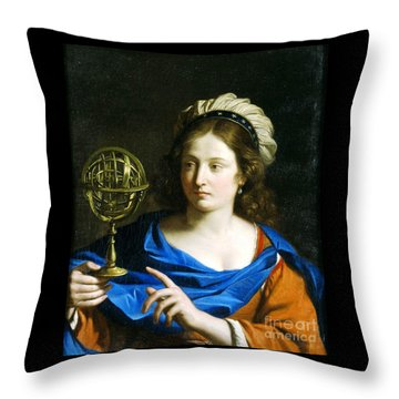 Personification Of Astrology Throw Pillow by Pg Reproductions