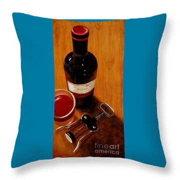 Wine Perspective Throw Pillow