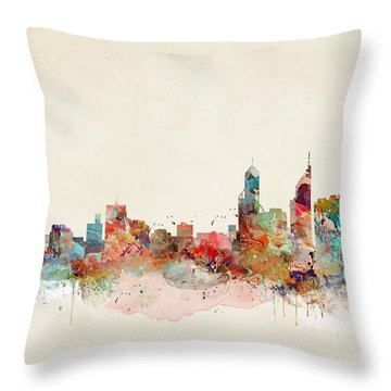 Throw Pillow featuring the painting Perth Australia by Bri B