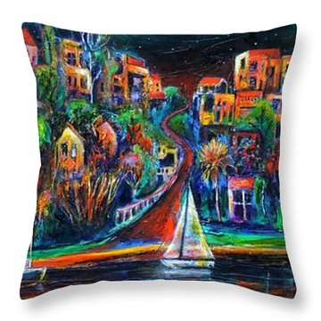 Perth By Night Throw Pillow