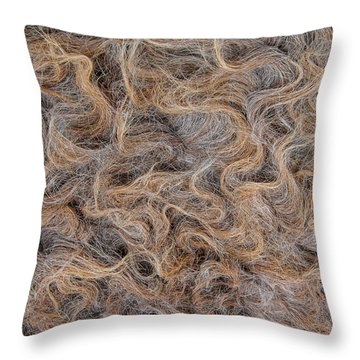 Peruvian Burro Curls Throw Pillow
