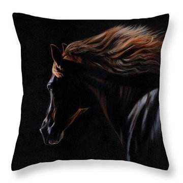 Peruvian Paso Horse Throw Pillow by David Stribbling