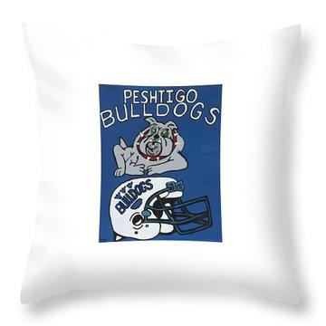 Peshtigo Bulldogs Throw Pillow by Jonathon Hansen