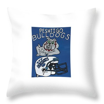 Peshtigo Bulldogs Throw Pillow