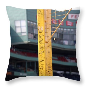 Pesky's Pole Throw Pillow by Greg DeBeck