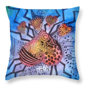 Throw Pillow featuring the painting Pet Love by Thomasina Durkay