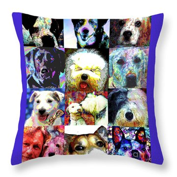 Pet Portraits Throw Pillow