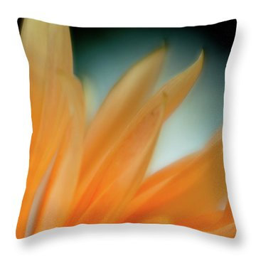 Petal Disaray Throw Pillow by Greg Nyquist