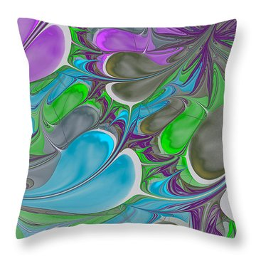 Petal Garden Throw Pillow