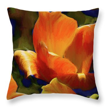 Throw Pillow featuring the mixed media Petal Gesture 52  by Lynda Lehmann