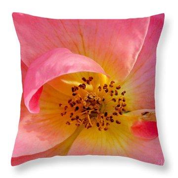 Petal Pink Throw Pillow