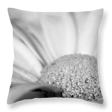 Throw Pillow featuring the photograph Petals - Black And White by Angela Rath