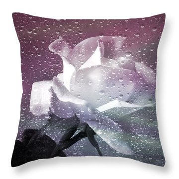 Petals And Drops Throw Pillow