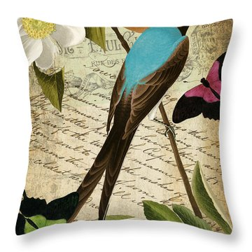 Petals And Wings II Throw Pillow