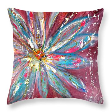 Petals Exploding Throw Pillow