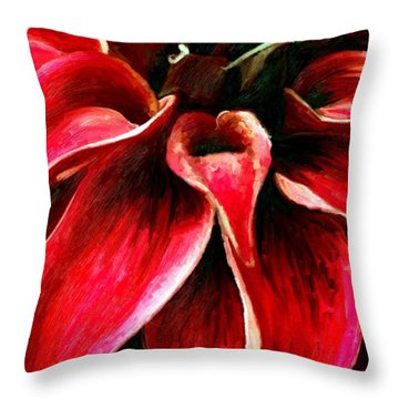 Throw Pillow featuring the painting Petals by James Shepherd