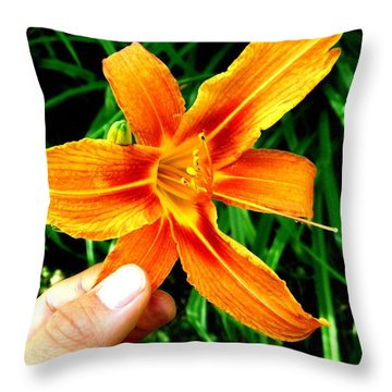 Petals Throw Pillow by Michael Grubb