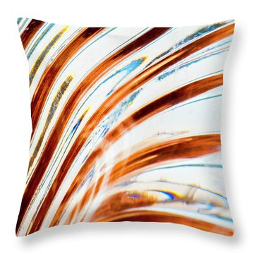 Throw Pillow featuring the photograph Petals Of Glass by Wendy Wilton