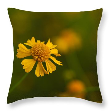 Petals Of Nature Throw Pillow by Christopher L Thomley