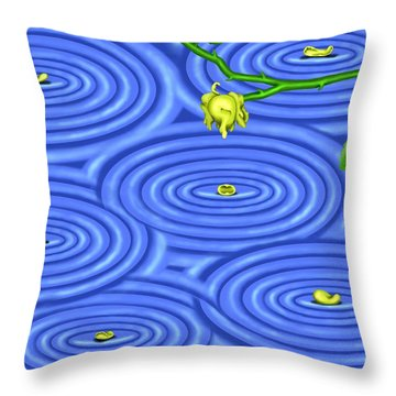 Petals On Water IIi Throw Pillow
