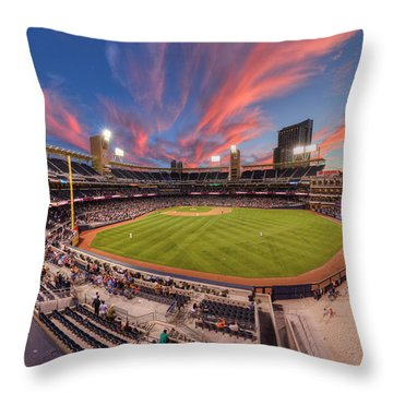 Petco Park - Farewell To 2015 Season Throw Pillow
