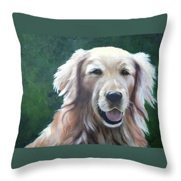 Throw Pillow featuring the painting Pete by Nancy Jolley